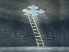 Ladder descending from puzzle hole